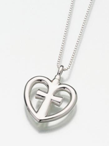 Love Cross Cremation Pendant