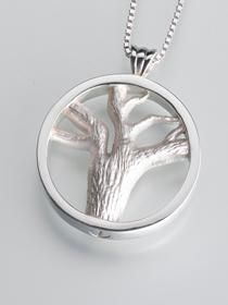 Tree of Lives Multi-Chamber Cremation Pendant