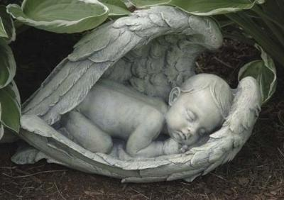 Baby in Angel Wings Memorial