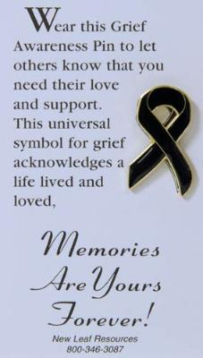 Grief Awareness Ribbon Lapel Pin