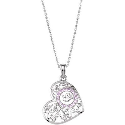 Handprint On My Heart Necklace - Daughter