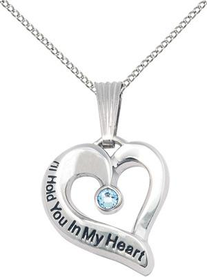 I'll Hold You In My Heart - March Birthstone