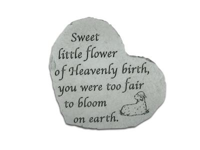 """Sweet Little Flower"" Memorial Stone"
