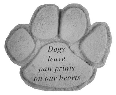 Paw Prints On Our Hearts Stone
