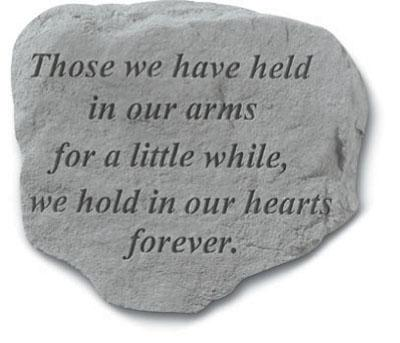 Those We Have Held - Garden Stone