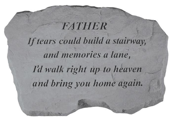 remembrance store memorial stones father memorial. Black Bedroom Furniture Sets. Home Design Ideas
