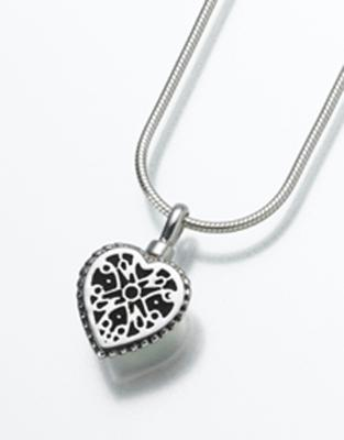 Filigree Heart Cremation Pendant
