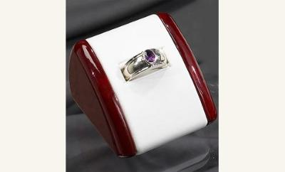 UNISEX RING  with birthstone