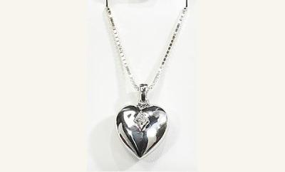 HEART  with cubic zirconium stone