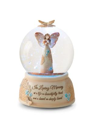 In Loving Memory Musical Water Globe