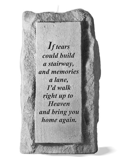 """If Tears Could Build"" Memorial Candle Holder"