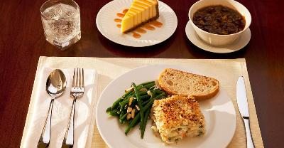 Vegetable Lasagna with Dessert and Soup