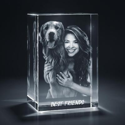Large Portrait 3D Crystal Tribute