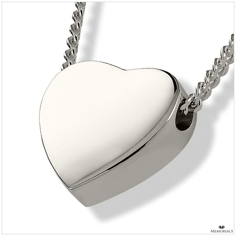Heart Pendant Locket for Ashes