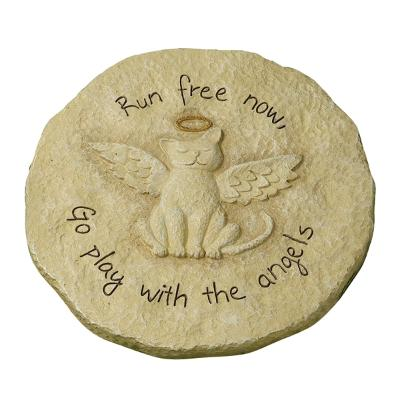 Cat Angel Stone