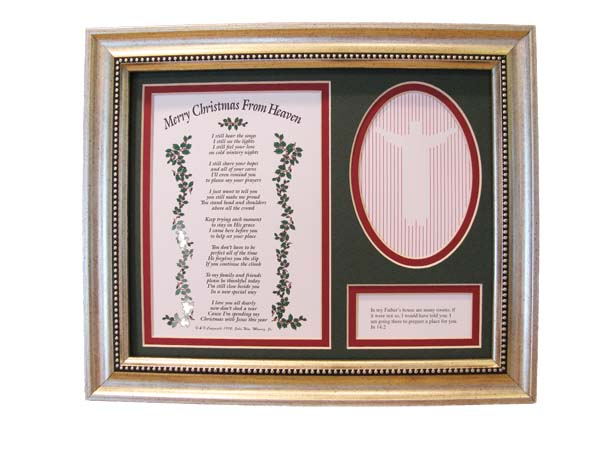 Christmas From Heaven.Remembrance Store Merry Christmas From Heaven Frame T