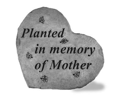 Mother Planting Memorial Stone
