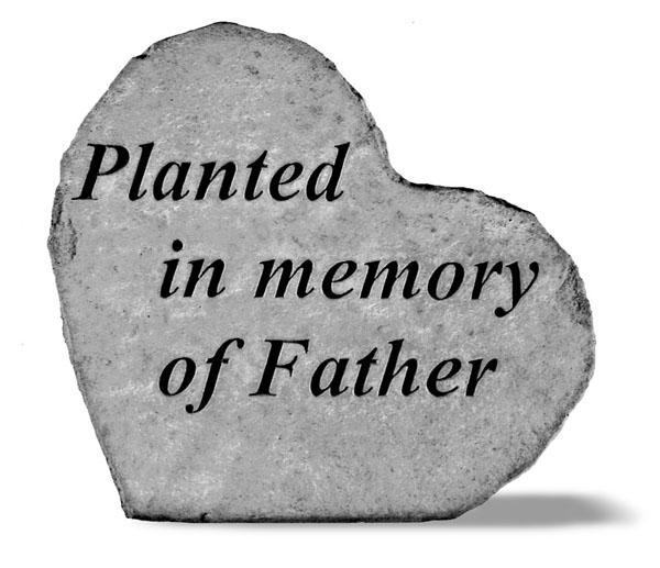 Father Planting Memorial Stone